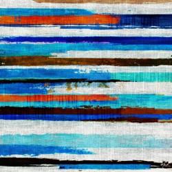 Canvas Rayure Bleue 80x80cm