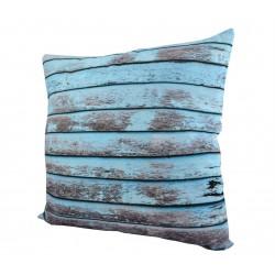Coussin planches bleu 45cm